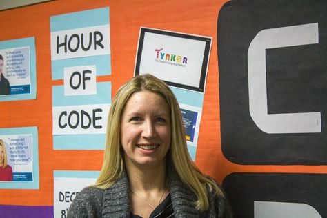 Sawyer teacher librarian Kirsti Minion says when she signed up for Hour of Code she committed to having all students in the school spend at least an hour doing programming.