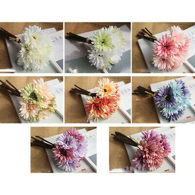 Artificial Flower Bouquet Home Party Decoration Display Gift Accessories Floral Decor Ebay In 2020 Artificial Flower Bouquet Fake Flowers Wedding Artificial Flowers
