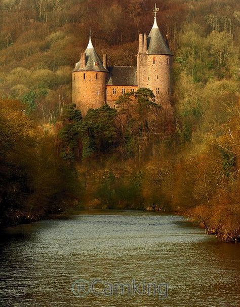 Castell Coch (Red Castle) is a 19th century Gothic Revival castle built on the remains of a genuine 13th century fortification, Tongwynlais, Cardiff, Wales.