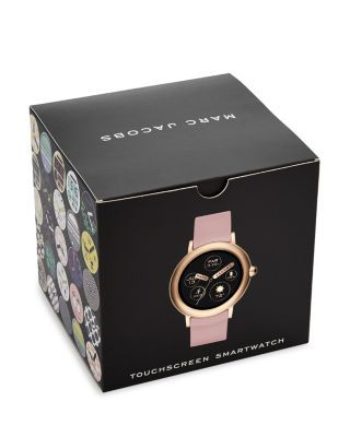 Marc Jacobs Riley Pink Silicone Strap Touchscreen Smartwatch 44mm Jewelry Accessories Bloomingdale S Smart Watch Marc Jacobs Touch Screen