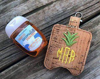 Pineapple Monogram Hand Sanitizer Holder Hand Sanitizer Holder