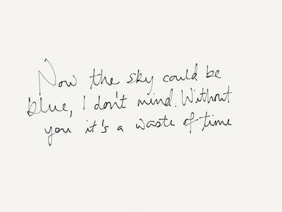 Chris' handwriting - Strawberry Swing lyric