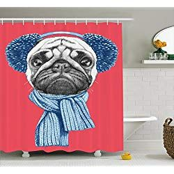 Pug Shower Curtains Pugs Cool Pets Pug Gifts