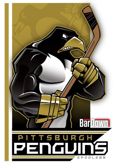 NHL Playoffs Mascot Art by Eric Poole