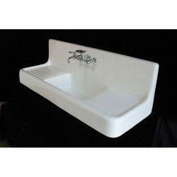 24 Cast Iron High Back Farm Sink Cast Farm High In 2020 Sink Farm Sink Shower Tub