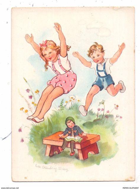 Kinder Kunstler Karte Lotte Oldenburg Wittig Spielende