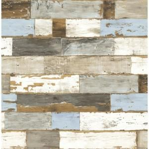 Nextwall Colorful Shiplap Vinyl Peelable Wallpaper Covers 30 75 Sq Ft Nw30700 The Home Depot Peel And Stick Shiplap Peelable Wallpaper Wood Wallpaper