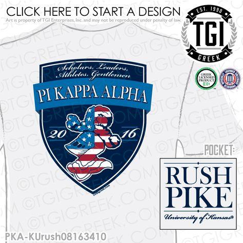 TGI Greek- Pi Kappa Alpha- Greek Apparel #PiKappaAlpha #Pike #Recruitment #Pike