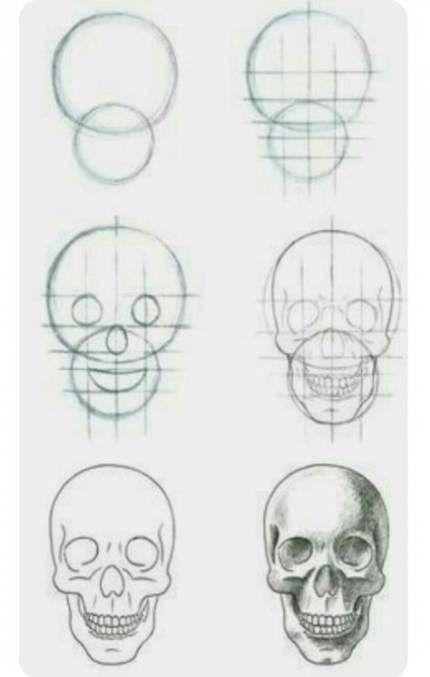 Face Art Step By Step Body Art V 2020 G Risunki Cherepov Risunok Cherepa Eskiz Cherepa