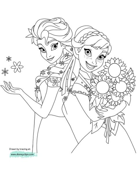 23 Inspired Picture Of Anna And Elsa Coloring Pages Elsa