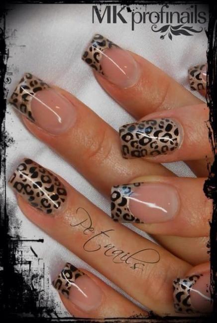 Nails Art Gold Animal Prints 23 Super Ideas Leopard Print Nails Animal Print Nails Nail Designs