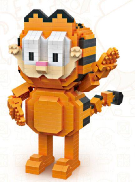 Garfield Stand LOZ BLOCK Mini Building Block Nanoblock iBlock a F01