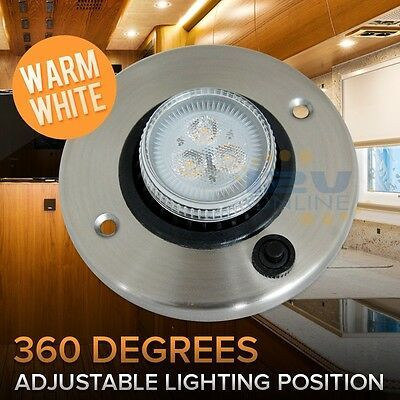 Sponsored Ebay Rv 12v Led Directional Eyeball Cabinet Reading Light Trailer Cargo Boat Switched In 2020 Reading Light Light Trailer Led Recessed Ceiling Lights