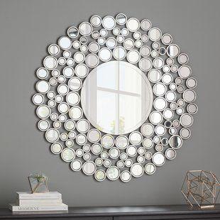 Northlight Glamorous Cascading Orbs Framed Round Wall Mirror Wayfair Round Wall Mirror Accent Mirrors Mirror Wall