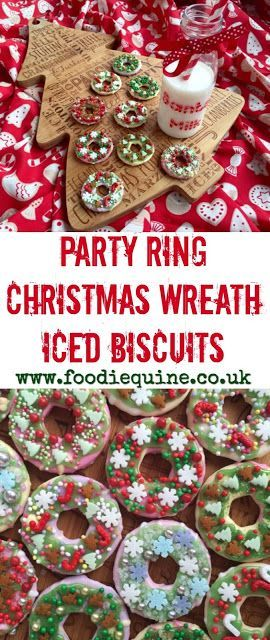 Party Ring Christmas Wreath Iced Biscuits Seasonal Recipes Iced