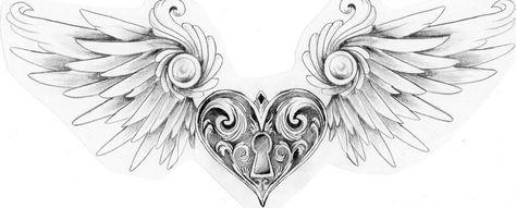 Winged heart locket by Mustang-Inky on DeviantArt