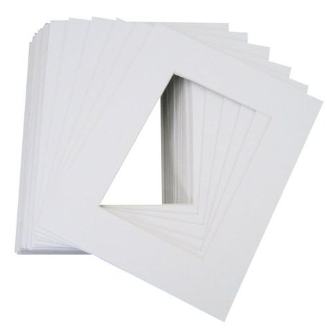 Pack of 10 Crescent Colored Mat Board 32 x 40 Inches White 918