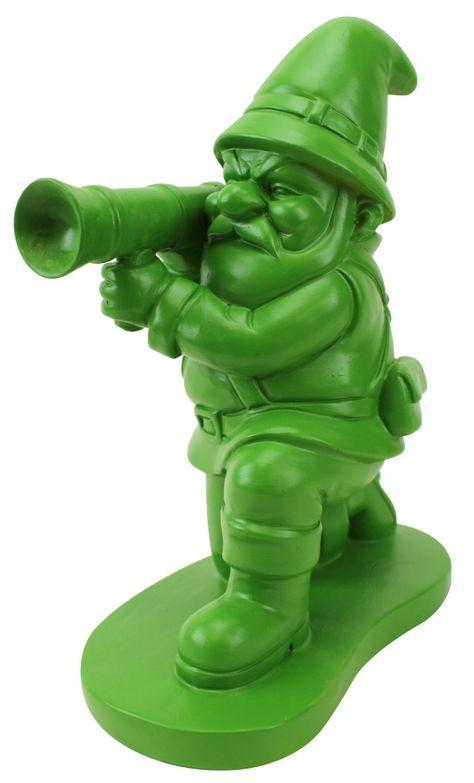 Amazon.com : Big Mouth Toys Army Man Garden Gnome : Patio, Lawn  Garden