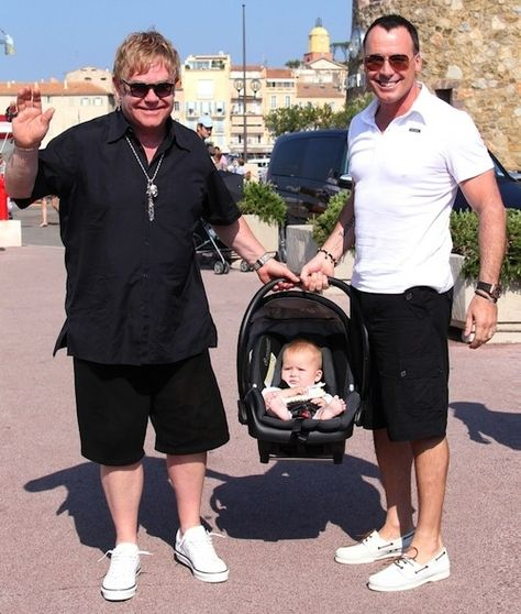 Elton John and David Furnish | The 10 Most Famous Gay Parents And Their Families