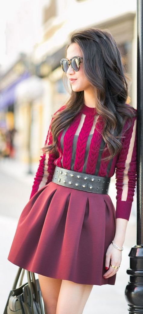Happy Holidays :: Sheer burgundy & Olive Celine by Wendy's Lookbook => Click to see what she wears