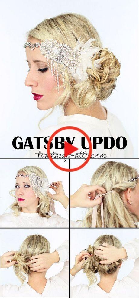 1920s Hairstyles Long Hair Tutorial Foto Video 1920smakeup 1920s Hairstyles Long Hair Tutorial Gatsby Hair Flapper Hair Hair Tutorial