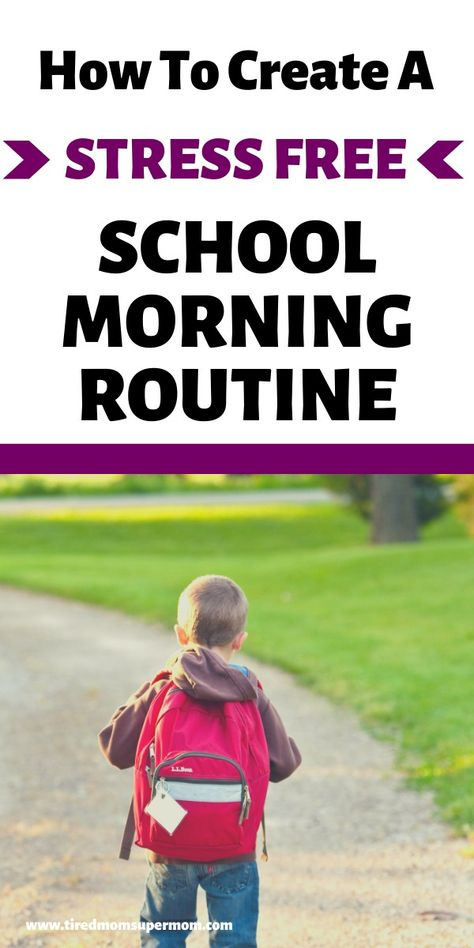 Easy School Morning Routine For Kids