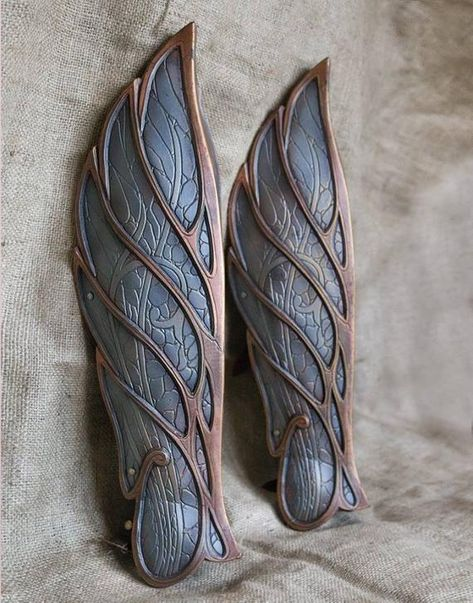 Elven leg armor LARP and Cosplay Greaves Elf Knight armour   Etsy