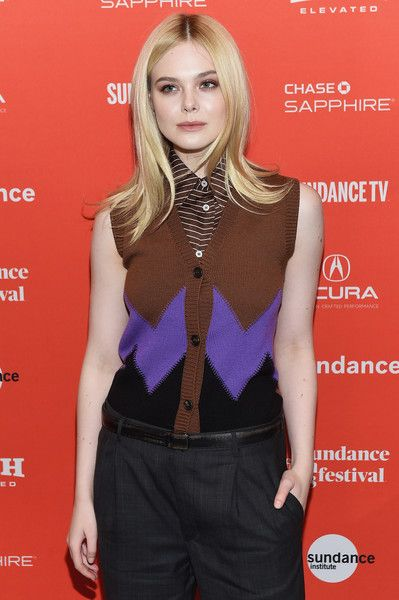Actor Elle Fanning attends the 'I Think We're Alone Now' Premiere during the 2018 Sundance Film Festival.