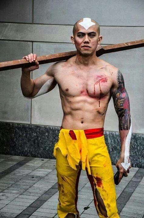 Aang - avatar the last airbender cosplay