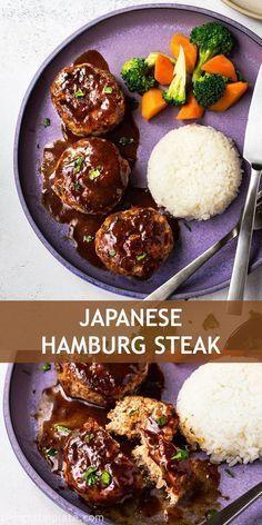 Japanese Hamburg Steak Recipe In 2020 Beef Recipes Food Recipes Asian Recipes