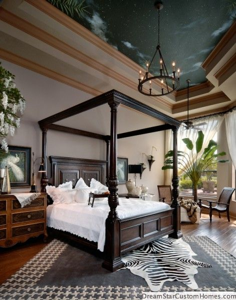 elegant safari theme bedroom
