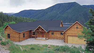 2040 Sq Ft One Level Log Home Floor Plan A Splendid Log Home Cabin Kit You Can Build Or We Can Build For Y Log Cabin Floor Plans Log Home