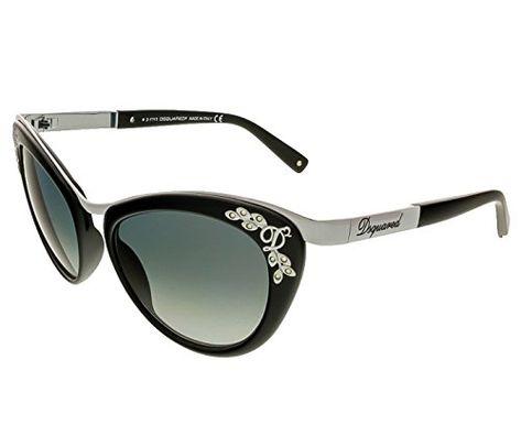 d0baa7bd165d0 Dsquared2 DQ00965401B CatEye SunglassesShiny Black54 mm   BEST VALUE BUY on  Amazon  Sunglasses50Off