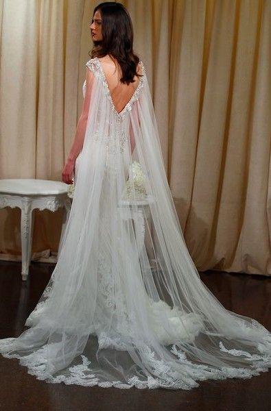 Deep V - Whimsical Wedding Capes - Photos