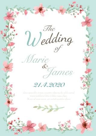 Stock Vector Flower Wedding Invitation Wedding Invitation