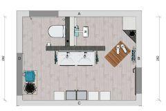 Badezimmer T-Wand Grundriss - Design regarding Badezimmer ...