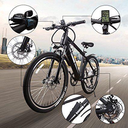 Nakto 350w Electric Bicycle Mountain E Bike Shimano 6 Speed Gear