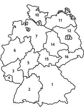 Quiz Aus Der Geografie Bundeslander Von Deutschland Vielleicht