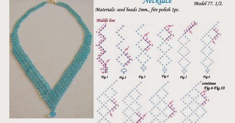 Seed bead jewelry MalaBead: Model first of 2 schema pix. ~ Seed Bead Tutorials Discovred by : Linda Linebaugh