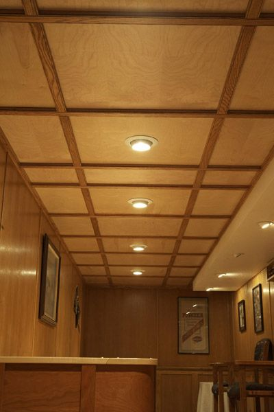basement wood ceiling ideas. drop ceiling ideas  suspended wood woodworker dave knau needed a for his Home Pinterest Ceiling Ceilings and
