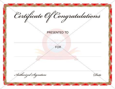 congratulation certificate congratulation certificate templates