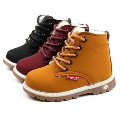 Baby Children Warm Boys Girls Martin Sneaker Snow Boots Kids Baby Leather Shoes