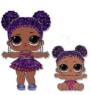 Iron On Transfer Lol Surprise Doll Dolls Purple Queen Glitter Series 14x13cm Ebay Lol Dolls Baby Girl Art Doll Party
