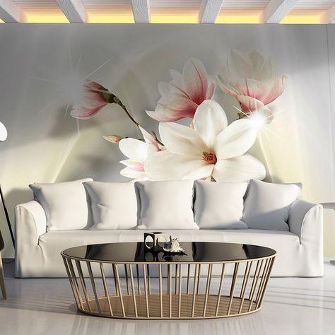Fototapete Blumen 350x245 Cm Xxl Vlies Tapete Moderne Wanddeko