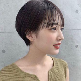 シースルー前髪 丸みショート 2020 ヘアスタイル 髪型 ショート
