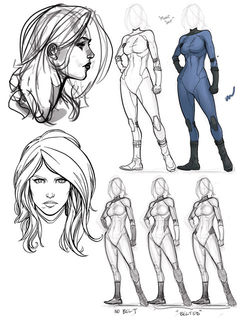 Drawing the Invisible Woman from the Fantastic Four Female Drawing, Body Drawing, Drawing Poses, Superhero Sketches, Superhero Design, Character Modeling, Character Drawing, Man Character, Anatomy Reference