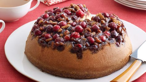 """Lindsey Vonn's Cranberry Upside-Down Cake    """"It seems kind of silly, but it's really nice to chill in the kitchen with a friend and bake. It relaxes me, and mixing is probably my favorite part. We usually make this in the morning and munch on it throughout the day. I try to eat on the healthier side, but baked goods are hard to resist. I just love sweet things. Coffee and this super-moist cake are a win-win any time of the day!"""""""