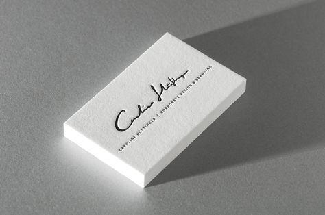Letterpress Visitenkarten Letterpress Visitenkarten