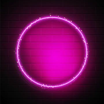 Neon Pink Circular Border With Light Sparkle Neon Frame Border Png And Vector With Transparent Background For Free Download Neon Design Blue Design Graphic Neon