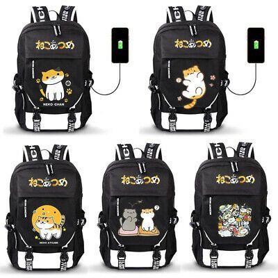 New Cute Anime Neko Atsume Backpack shoulder bag knapsack Students Schoolbag Bag